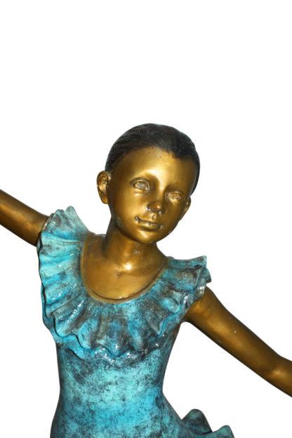 "Ballerina Bronze Statue Bronze Statue -  Size: 34""L x 15""W x 46""H."
