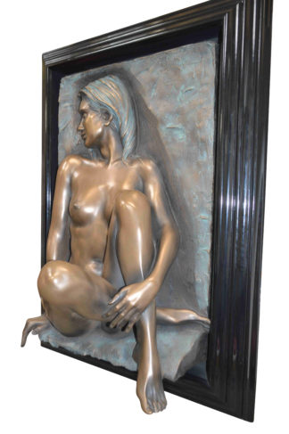 "Bill mack Dimensional Adorned Bonded Bronze -  Size: 25""L x 37""W x 10""H."