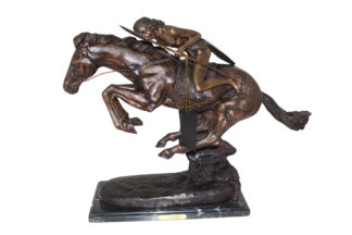 "Cheyenne by Remington Bronze Statue -  Size: 27""L x 8.5""W x 22""H."