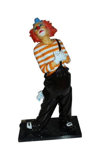 "Clown - small Bronze Statue -  Size: 12""L x 6""W x 23""H."