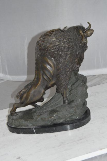 "Bison Bronze Statue -  Size: 7""L x 14""W x 15""H."