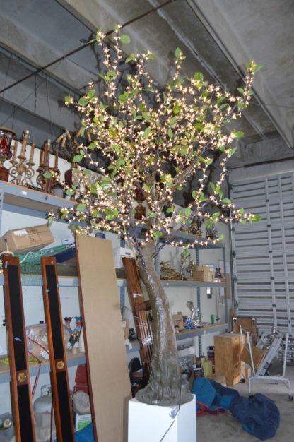 "Bright Baum LED Artificial Tree -  Size: 65""L x 55""W x 90""H."