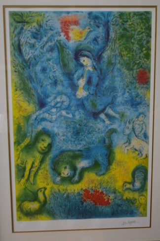 "Magic Flute by Marc Chagall Limited Edition Lithograph -  42""L x 30""W x 2""H."