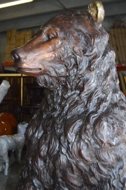 """Big Bear standing Bronze Statue -  Size: 45""""L x 42""""W x 78""""H."""
