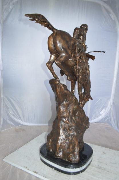 """Jumbo Mountain Man by Remington Bronze Statue -  Size: 13""""L x 13""""W x 37""""H."""