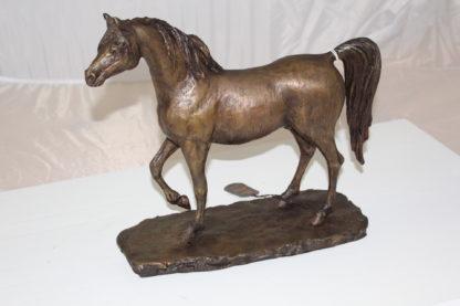 "Horse Bronze Statue by Vidal -  Size: 15""L x 5.5""W x 14""H."