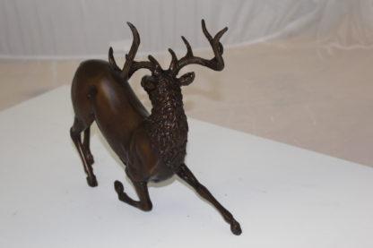 """Deer Bronze Statue -  Size: 12""""L x 5""""W x 10.5""""H."""