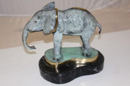 """Elephant Bronze Statue -  Size: 11""""L x 8""""W x 10""""H."""