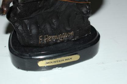 """Mountain man -small, by Remington Bronze Statue -  7""""L x 2.5""""W x 11""""H."""