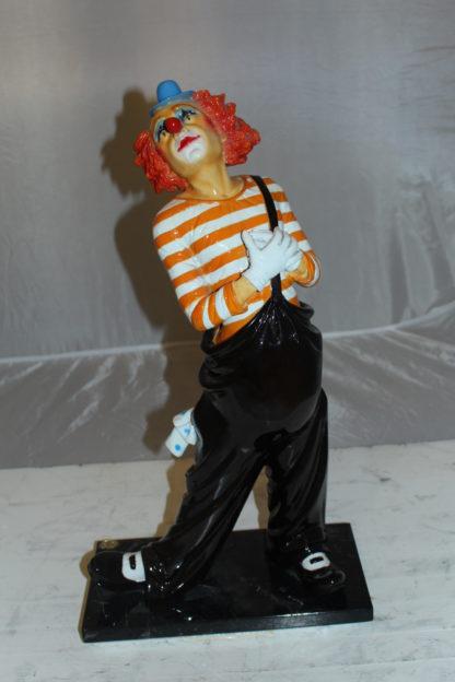 "Clown - small Bronze Statue -  Size: 12""L x 6""W x 23""H."