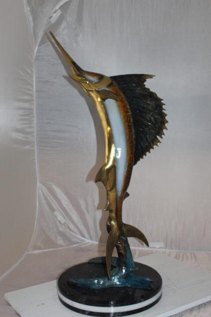 "One Sailfish Bronze Statue -  Size: 18""L x 18""W x 43""H."