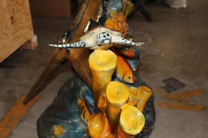 "Large Sailfish Bronze Statue -  Size: 38""L x 24""W x 67""H."