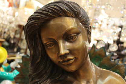 "Beautiful Women Holding Drape Bronze Statue -  Size: 22""L x 18""W x 49""H."