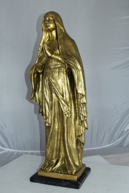 "Blessed Virgin Mary Bronze Statue -  Size: 10""L x 8""W x 33""H."