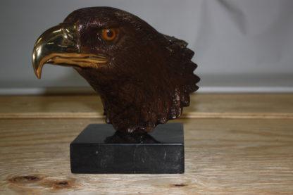 """Eagle head - Bronze Statue -  Size: 10""""L x 6""""W x 8.5""""H."""