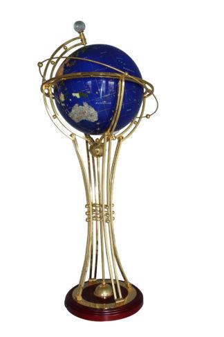 "Illuminated Blue Ocean World Globe Rotating by motor -  18""L x 18""W x 42""H."