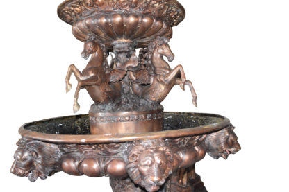 "Nine feet tall Bronze, Tiered Outdoor pond Fountain -  59""x 59"""