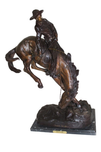 "Outlaw Remington Bronze Statue -  Size: 19""L x 10""W x 26""H."