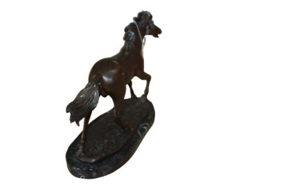 "Running horse - Bronze Statue -  Size: 12""L x 4""W x 8""H."