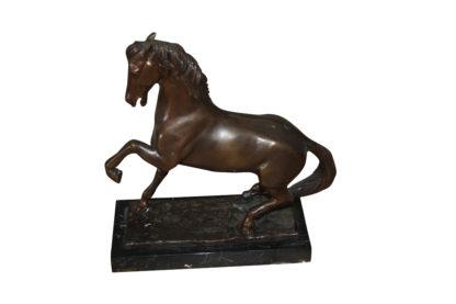 "Running horse Bronze statue -  Size: 7.5""L x 3.5""W x 9""H."