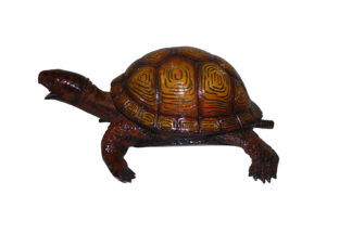 "Bronze Turtle fountain -  Size: 14""L x 10""W x 6""H."