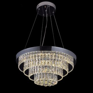 LED Chandelier Small Modern - Diameter Size is: 500 MM or approx 19.7 Inches