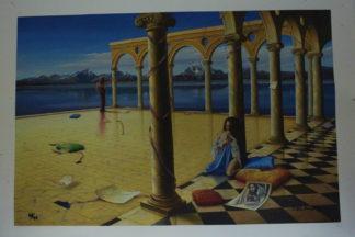 "Orlando Quevedo Giclée ""Old Memories"" Painting -  Size: 21""L x 13.5""W"