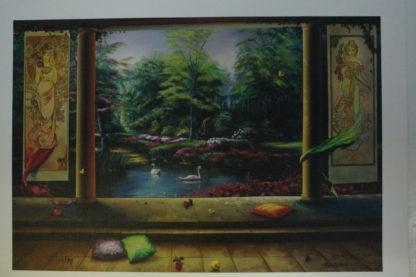 "Orlando Quevedo Giclée ""Paradise"" Painting -  Size: 21""L x 13.5""W"