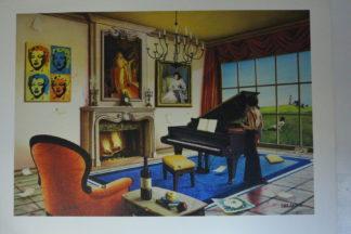 """Orlando Quevedo Giclée """"Harmony"""" Painting -  Size: 21""""L x 13.5""""W"""