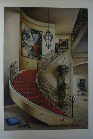 "Orlando Quevedo Giclée - Sweet Dreams"" Painting -  Size: 21""L x 13.5""W"